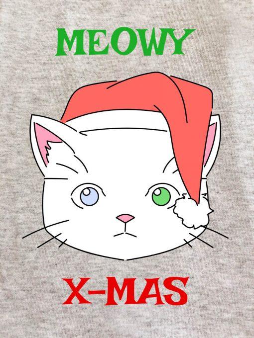 Printed Sweatshirt-Meowy X-Mas, Men