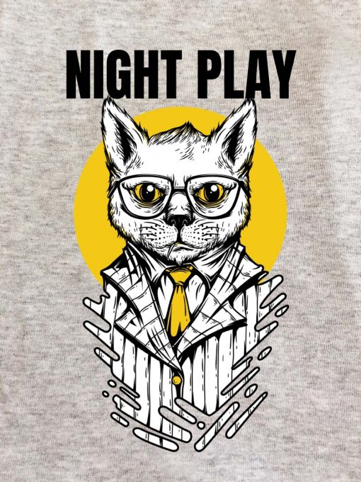Printed Sweatshirt-Night Play, Men