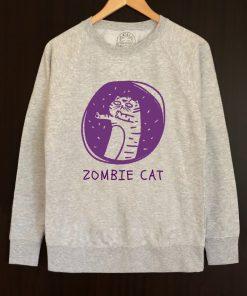 Printed Sweatshirt-Zombie Cat, Men