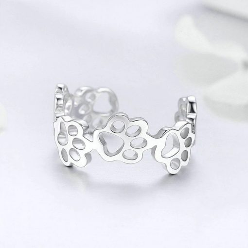 Cat Paws Silver Ring