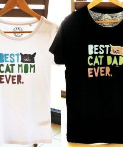 Hand painted T-shirts-Best Cat Parents