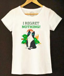 Organic cotton T-shirt-I Regret Nothing, Women