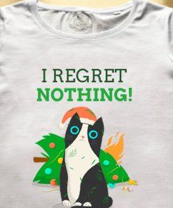 Organic cotton T-shirt-I Regret Nothing