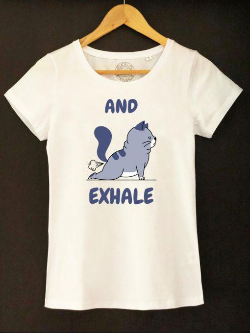 Organic cotton T-shirt-And Exhale, Women