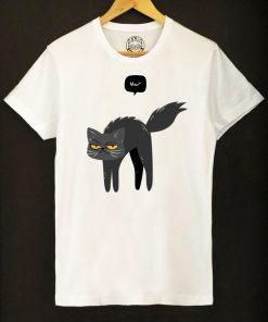 Organic cotton T-shirt- Mew Black Cat, Men