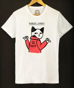 Organic cotton T-shirt- Nobody Cares, Men