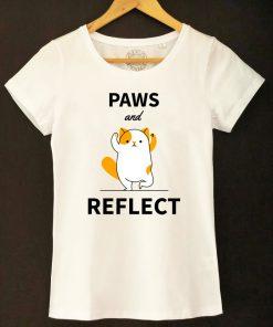 Organic cotton T-shirt- Paws and Reflect, Women