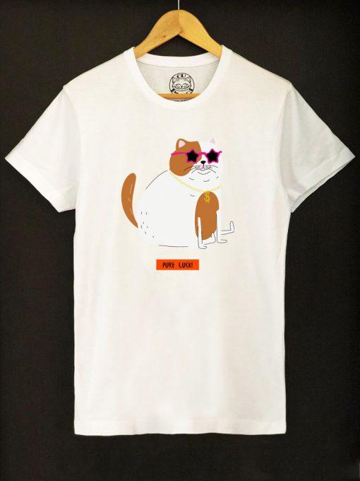 Organic cotton T-shirt- Pure Luck, Men
