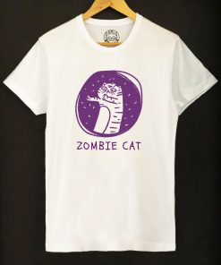 Organic cotton T-shirt- Zombie Cat, Men