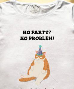 Organic cotton T-shirt- Happy Birthday (Ginger Cat), Men