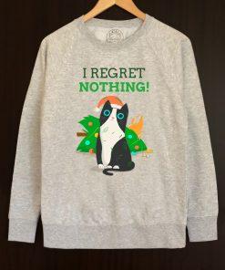 Printed Sweatshirt-I Regret Nothing, Men