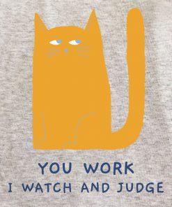 Printed Sweatshirt-Judgemental Cat, Men