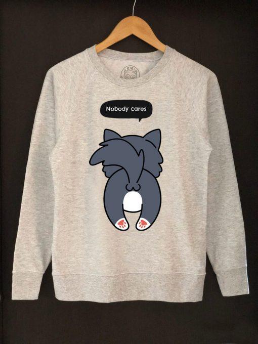 Printed Sweatshirt-Nobody Cares, Women