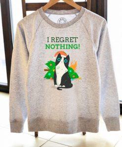 Printed Sweatshirt-I Regret Nothing, Women