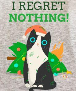 Printed Sweatshirt-I Regret Nothing
