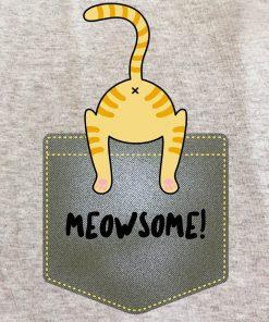 Printed Sweatshirt-Meowsome, Men