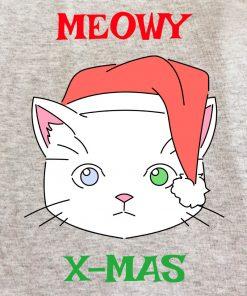 Printed Sweatshirt-Meowy X-Mas