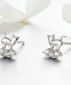 Sophisticated Cats Silver Earrings