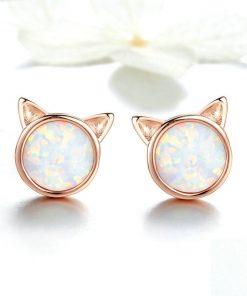 Cat Ears Silver Earrings – Golden