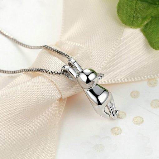 Complete Cat Silver Necklace