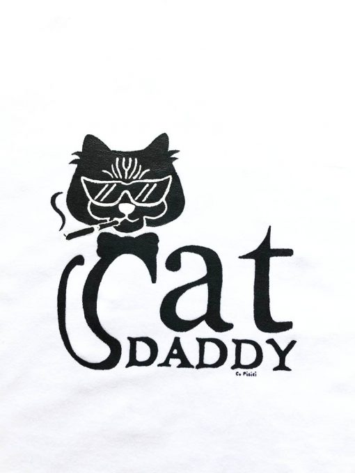 Hand painted T-shirt-Cool Cat Daddy, Men