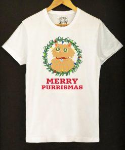 Organic cotton T-shirt-Merry Purrismas (Ginger Cat), Men