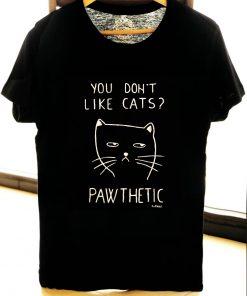 Hand painted T-shirt-Pawthetic Cat, Men