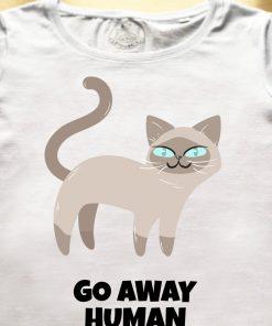 Organic cotton T-shirt- Go away Human