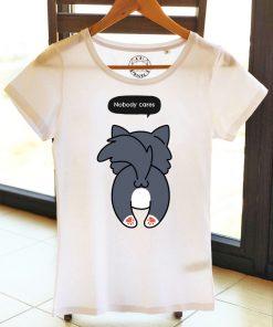 Organic cotton T-shirt-Nobody Cares, Women