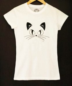 Hand painted T-shirt-Complete Cat, Women