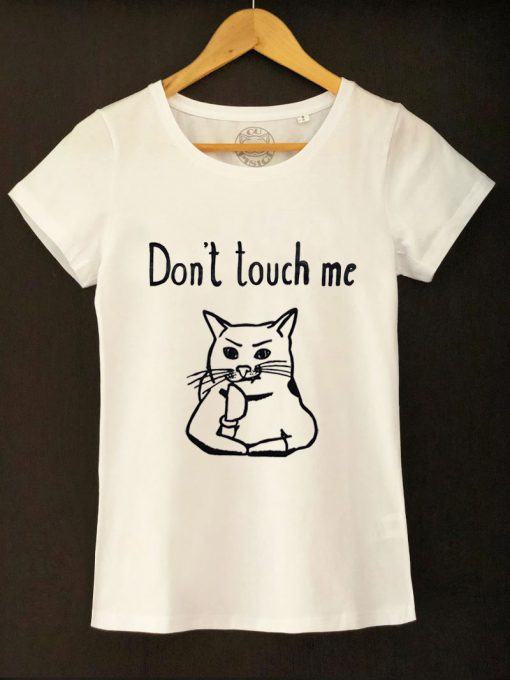Hand painted T-shirt-Don't touch me, Women