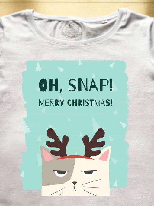 Organic cotton T-shirt-OH, SNAP! Model 1