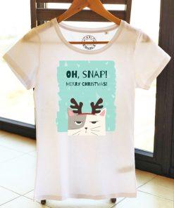 Organic cotton T-shirt-OH, SNAP! Model 1, Women
