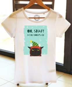 Organic cotton T-shirt-OH, SNAP! Model 2, Women