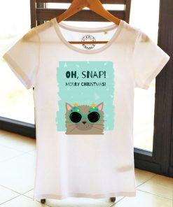 Organic cotton T-shirt-OH, SNAP! Model 3, Women