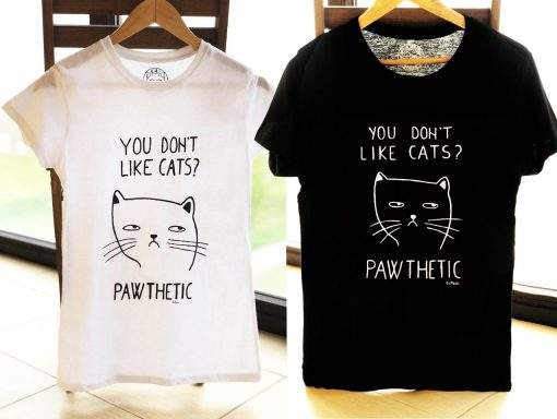 Hand painted T-shirts-Pawthetic for Him and Her