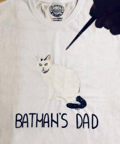 Custom hand painted T-shirt-Batman's Dad Portrait