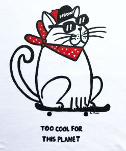 Hand painted T-shirt-Too COOL for this Planet, Women