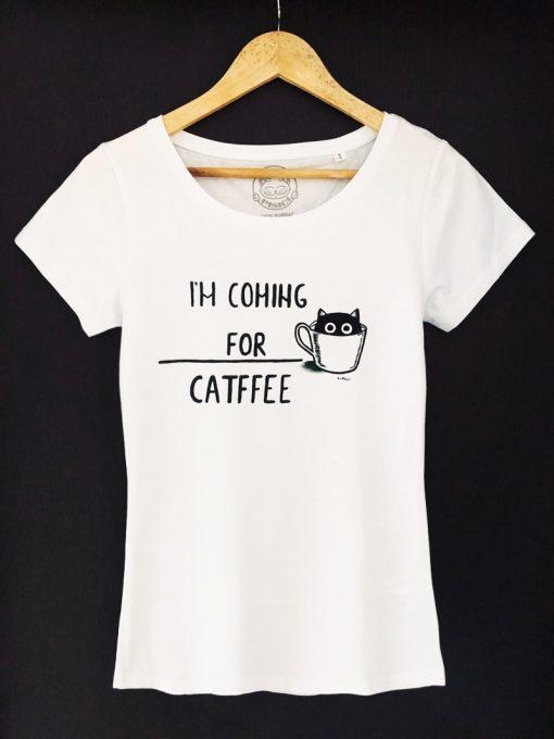 Hand painted T-shirt- CATFFEE, Women