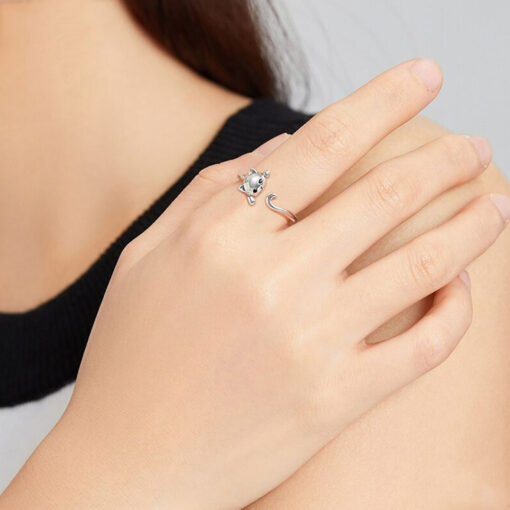Sweet Cat Silver Ring
