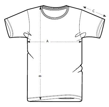 Size guide T-shirts-men